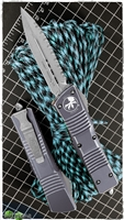 Microtech Combat Troodon D/E 142-12DGY Full Serr Distressed Gray
