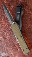 Microtech Combat Troodon 142-3GTOD D/E Black Full Serr Blade OD G10 Handle