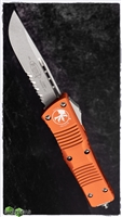 Microtech Combat Troodon D/A OTF S/E 143-11 OR Stonewash Serrated Orange Handle