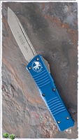 Microtech Combat Troodon T/E 144-1OBL Stonewash Blade Blue Handle