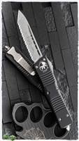 Microtech Combat Troodon T/E 144-12 Full Serrated Stonewash Blade