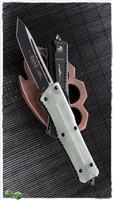 Microtech Combat Troodon 144-1GTJGS T/E Black Blade Jade Green G10 Handle
