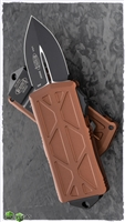 Microtech Exocet 157-1TA Black Blade Tan Handle