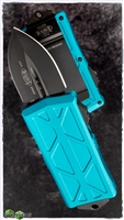 Microtech Exocet 157-1TQ Black Blade Turquoise Handle