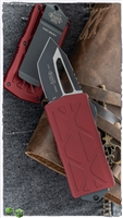 Microtech Exocet 158-1MR Black Blade Merlot Handle