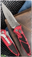 Microtech SOCOM Elite Auto S/E 160A-11RD Stonewash Partial Serrated Blade Red Handle