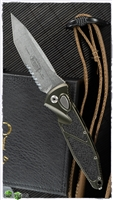 Microtech SOCOM Elite Auto T/E 161A-11OD Stonewash Partial Serrated Tanto Blade OD Handle