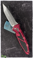 Microtech SOCOM Elite Auto T/E 161A-11RD Stonewash Partial Serrated Tanto Blade Red Handle