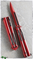 Microtech Tachyon III Balisong Knife  Red & Black (Deadpool)