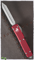 Microtech Ultratech Spartan 223-4RD Satin Blade Red Handle
