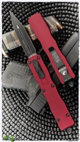 Microtech Dirac Delta 227-1RD Black Blade Red Handle