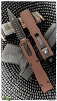 Microtech Dirac Delta 227-1TA Black Blade Tan Handle