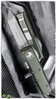 Microtech UTX-85 T/E 233-10OD Stonewash Blade Green Handle