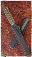 Microtech Cypher MK7 D/E 242M-1GRB OD Blade & Hardware Black Handle