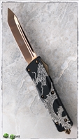 Microtech Custom Combat Troodon SN003 Dragon Etch w/ Bronzed Hardware & Blade