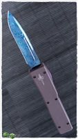 Vintage Microtech Ultratech Signature Series Blued Damascus Blade
