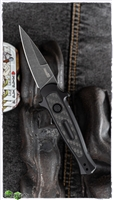 Kershaw Launch 12 Carbon Fiber Inlay - Black Handle, Blackwashed Blade, 7125GRYBW