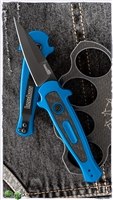 Kershaw Launch 12 Carbon Fiber Inlay - Blue Handle, Black Blade, 7125BLUBW