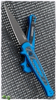 Kershaw Launch 8 Carbon Fiber Inlay - Blue Handle Black Blade
