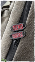 NCC Knives Boot Tags Carbon Fiber Painted - Red Send & Nudes