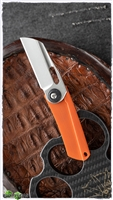 NCC Knives - Orange Swirl G10 Pod Friction Folder Knife