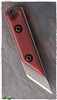 NCC Knives Micro Kiridashi Neck Knife Red  G-10