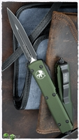 Microtech Ultratech D/E 122-1OD Black Standard Blade Green Handle