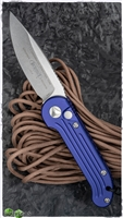 Microtech LUDT 135-10PU Stonewash Blade Purple Handle