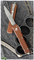 Microtech UTX-70 S/E 148-10APTA Apocalyptic Finish Blade Tan Handle