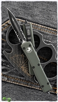 Microtech UTX-70 147-2OD D/E Black Serrated Blade OD Green Handle