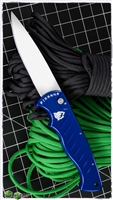 Piranha Pocket Blue Handle Mirror Plain