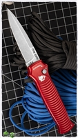 Piranha Bodyguard Red Handle Stonewash Plain