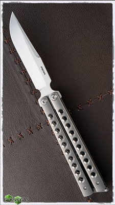 Pena Knives Custom PenaSong Balisong Clip Point Tumbled Handles