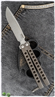 Pena Knives Mid-Tech Penasong Butterfly Knife Bronze Titanium