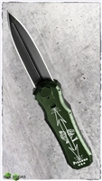 Piranha Excalibur OTF Tactical Black Green Handle