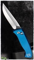 Protech Brend #2 Small Size 1221 Satin Blade Blue Handle