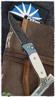 Protech Brend #2 Custom No Clip Damascus Blade w/Ti Flo Chassis