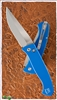 Protech Brend #3 Auto 1321-SB Satin Blade Blue Handles