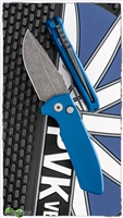 Protech Les George SBR Auto 411-Blue Acid Washed Blade