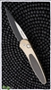 Protech Newport Auto Titanium Handle Carbon Fiber Inlay Two Tone Blade