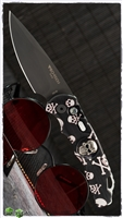 Protech TR-5 Auto Skull and Cross Bones Black Blade Shaw Skull