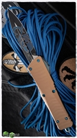 Custom Hydra Combat Troodon D/E Black Blade Tan G10 Blue HW