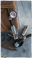 PVK Custom Imperial Titanium Pocket Grappling Hook w/ Cobolt Bounty Hunter Bead
