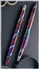 Purple Haze Flame-Ano Titanium Custom Tuff Writer Pen