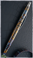 Warp Speed Flame-Ano Titanium Custom Tuff Writer Pen