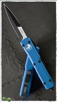 Microtech Ultratech Bayonet 120-1BL Blue Handle Black Blade