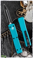 Microtech UTX-70 D/E 147-1TQ Black Blade Turquoise Handle