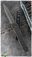 Microtech UTX-70 D/E Damascus Blade LTD Ringed HW Carbon Fiber Top 147-16CF