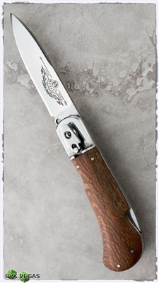 "Russian Stiletto ""Medteh"" Skinner Light Wood"