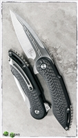 Todd Begg Steelcraft Mini Glimpse Black Handle Carbon Fiber Inlays